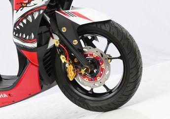 Tips Pasang Pelek Motor Yamaha Aerox di Lexi 125, Tinggal Pasang Tapi...