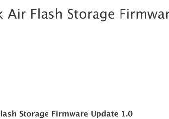 Apple Merilis Pemutakhiran Flash Storage Firmware MacBook Air 2012 1.0