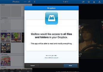 Mailbox Menambahkan Integrasi Dropbox