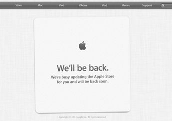 2 Jam Menjelang Pre-Order iPhone 5C, Laman Apple Store Tutup