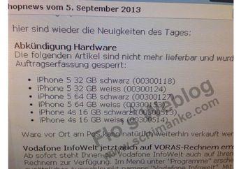 Vodafone Tidak Lagi Menjual iPhone 5 32/64 GB Setelah iPhone 5C Rilis