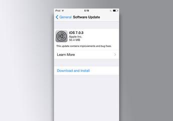 Apple Merilis iOS 7.0.3 Dengan Perbaikan Kalibrasi Accelerometer