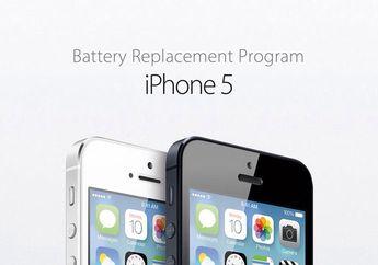 Program Penggantian Baterai iPhone 5 Diperpanjang Sampai Awal 2016