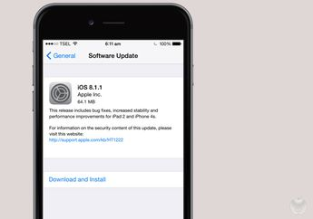Apple Merilis iOS 8.1.1, Memperbaiki Performa iPhone 4s & iPad 2