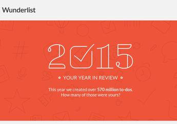 Intip Produktivitas Selama 2015 di Wunderlist Year in Review