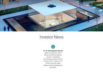 Apple Rilis Jadwal Pengumuman Laporan Keuangan Kuartal 3 2016