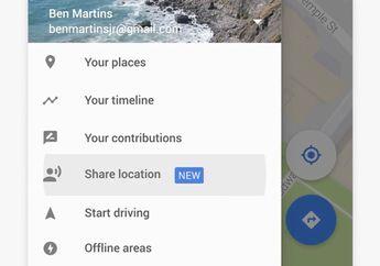 Google Maps Siap Rilis Fitur Berbagi Lokasi dan Waktu Perjalanan