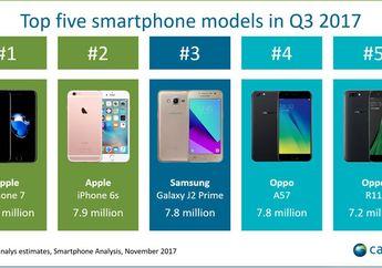 iPhone 7, Smartphone Paling Laris di Dunia di Kuartal 3 2017