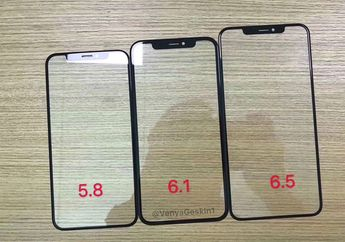 (Foto) Bocoran Panel Kaca Depan Trio iPhone 2018
