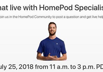 Apple Umumkan Acara Chat Live dengan HomePod Specialists