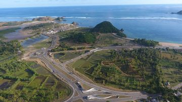 Rencana pembuatan sirkuit di Mandalika, Nusa Tenggara Barat yang akan digunakan untuk MotoGP dan World Superbike.