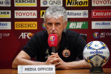 Pelatih Persija Jakarta, Ivan Kolev, memberikan komentar jelang laga melawan Shan United.