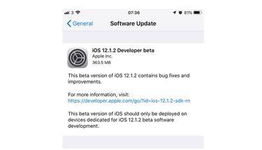 Apple Rilis iOS 12.1.2 Developer Beta 1