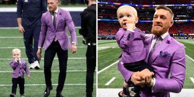 McGregor dan Putranya Tampil dalam Pakaian Serasi di Super Bowl LIII