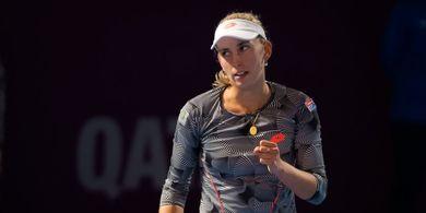Mertens Tersungkur di Babak Pertama Dubai Tennis Championships 2019