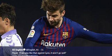Dalih Pique atas Permainan Jelek Barcelona Kala Lawan Real Valladolid