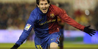 VIDEO - Memori Gol Lionel Messi Ubrak-abrik Lyon di Liga Champions