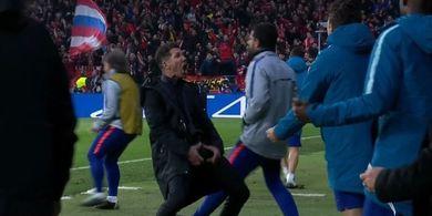 Selebrasi Kontroversial Diego Simeone Tak Akan Kena Hukuman UEFA
