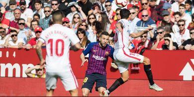 Sevilla Vs Barcelona - Messi Cetak Gol Indah, El Barca Tertinggal 1-2