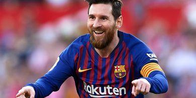 VIDEO - Lionel Messi Contek Selebrasi Pele Usai Lengkapi Hat-trick