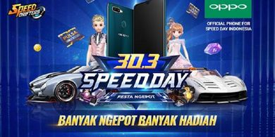 Speed Day 30.3 Pesta Ngepot Bagi-bagi Handphone Gaming Gratis