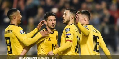Kualifikasi Piala Eropa 2020 - Dua Gol Hazard Bawa Belgia Kalahkan Rusia