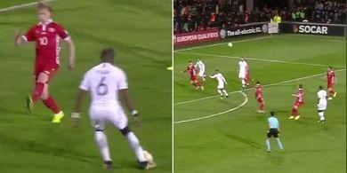 VIDEO - Pogba Beri Assist Chip Cantik, Griezmann Menjawab dengan Tendangan Voli