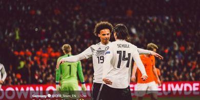 VIDEO - Gol Leroy Sane untuk Jerman Bikin Bek Belanda Jatuh Terguling