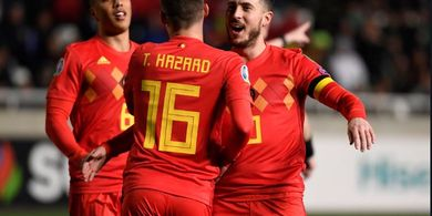 Hasil Kualifikasi Piala Eropa -  Batshuayi Jadi Bintang Lapangan Belgia