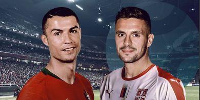 Hasil Kualifikasi Piala Eropa 2020 - Ronaldo Kejar Bola Sampai Cedera, Portugal Seri 1-1