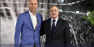 Zidane Ajukan 1 Nama ke Florentino Perez yang Lebih Mahal dari Neymar-Mbappe