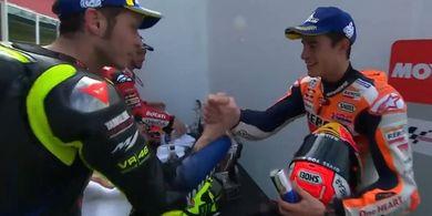 Marc Marquez Masih Sadari Ancaman Serius Valentino Rossi pada MotoGP Belanda 2019