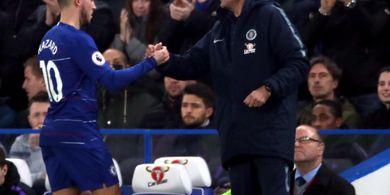 Hazard Terus Dirumorkan ke Real Madrid, Sarri Hanya Bisa Pasrah