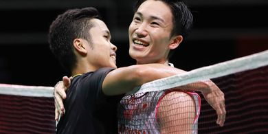 Rekor Pertemuan Anthony Ginting Vs Kento Momota Jelang Final China Open 2019