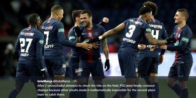 PSG Resmi Juara Liga Prancis Tanpa Harus Bertanding Pekan Ini