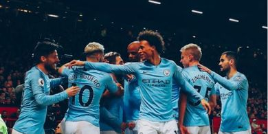 VIDEO - 2 Gol Manchester City yang Kubur Manchester United di Old Trafford