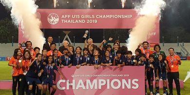 Piala AFF U-15 Wanita - Timnas Thailand Raih Gelar Juara