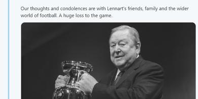 Lennart Johansson, Bapaknya Liga Champions Meninggal Dunia