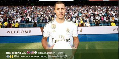 Harga Maksimal Eden Hazard Kalahkan Seluruh Skuat 7 Klub Liga Spanyol