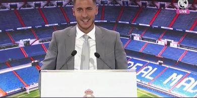 Ada Barcelona Saat Acara Peresmian Eden Hazard di Santiago Bernabeu