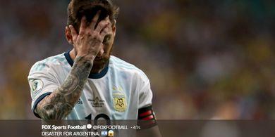 VIDEO - Jatuh Bangun Lionel Messi Dihantam Pemain Kolombia