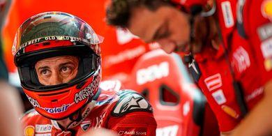 MotoGP Inggris 2019 - Dovizioso Hilang Ingatan akibat Tabrakan di Lap Pertama