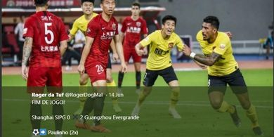 Dua Gol Eks Pilar Barcelona Buat Papan Atas Liga Super China Memanas