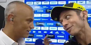 Jelang GP Belanda 2019 - Momen saat Rossi Ngerem Mendadak dari 200Km/Jam