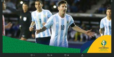Hasil Babak I Copa America - Messi Melempem, Gawang Argentina Bobol Satu Gol