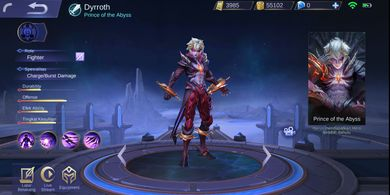Build Tersakit Dyrroth, Hero Fighter Terbaru di Mobile Legends