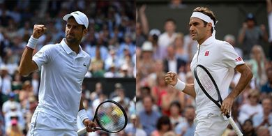Preview Final Wimbledon 2019 - Novak Djokovic dan Roger Federer Sajikan Laga Ideal
