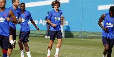 Resmi Gabung Barcelona, Griezmann Belum Disambut Lionel Messi