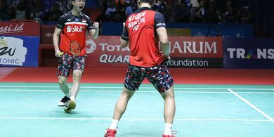 Hasil Indonesia Open 2019 - Marcus/Kevin Juara Setelah Tumbangkan Ahsan/Hendra