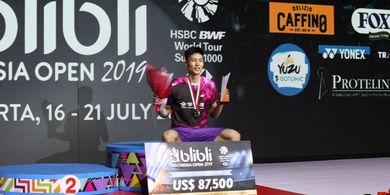 Hasil Indonesia Open 2019 - Chou Tien Chen Cetak Sejarah di Turnamen